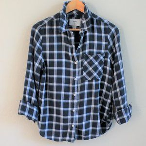 Forever 21 Girls Blue Button Down Shirt Size M